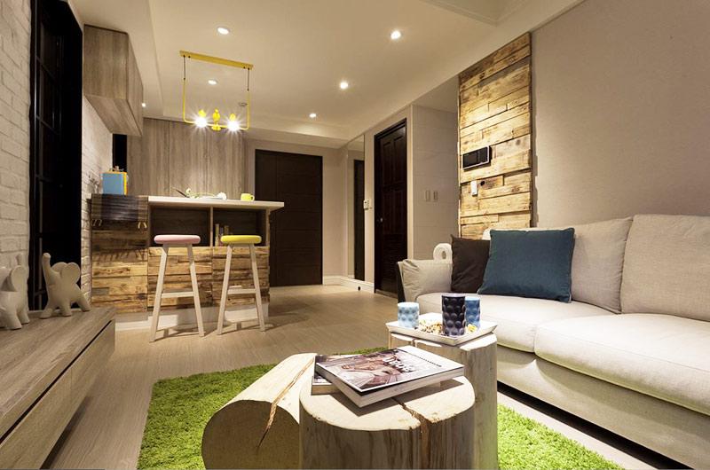 53平小公寓装修客厅地毯图片