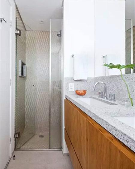 50平小户型一居卫生间淋浴房装修