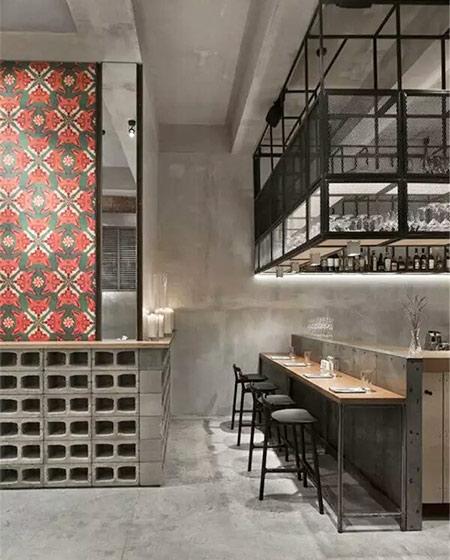 工业风格酒吧吧台效果图装修