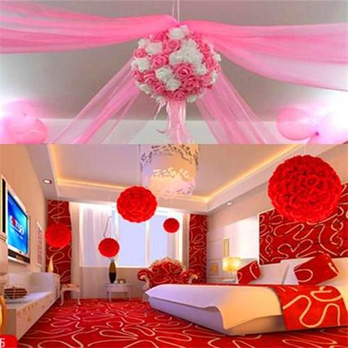 球布置效果�_婚房布置图片拉花效果图 婚房如何布置拉花好看