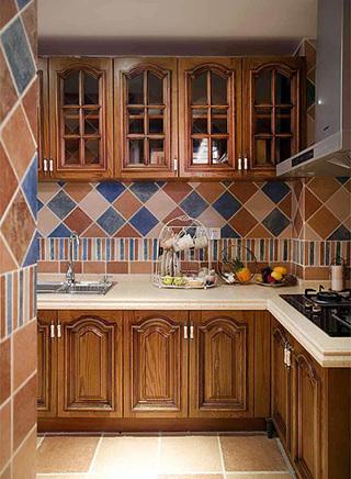 美式风格厨房墙面砖设计图片大全