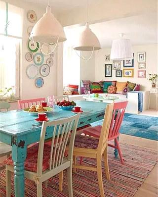 别墅餐厅装修混搭风格餐椅