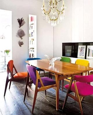 餐厅混搭风格餐椅效果图