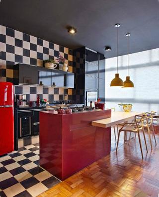 美式厨房装修装饰效果图
