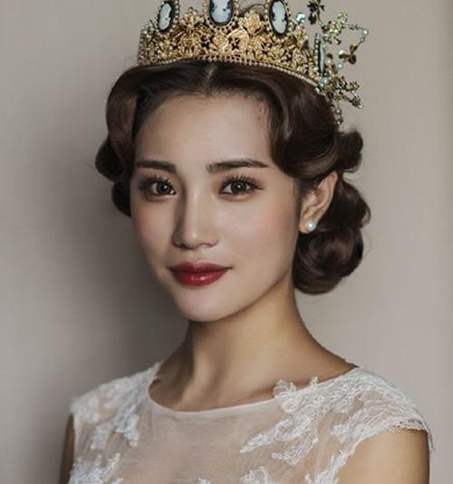 最美新娘发型图片2017