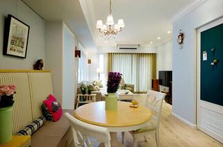 美式风格婚房装修餐厅吊灯图片