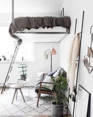 创意卧室高架床设计平面图