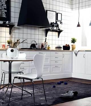 没有吊柜的厨房  10个收纳型厨房装修效果图6/10