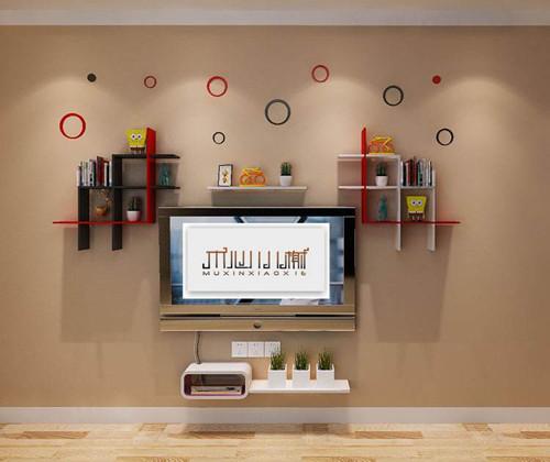 电视墙置物架效果图欣赏三图片