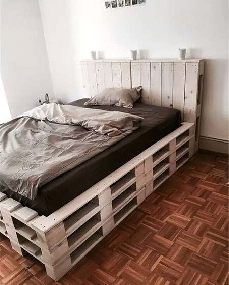 卧室木板床收纳设计效果图