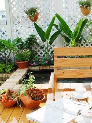 休闲阳台水池设计图片