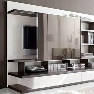 收纳型电视背景墙设计参考图
