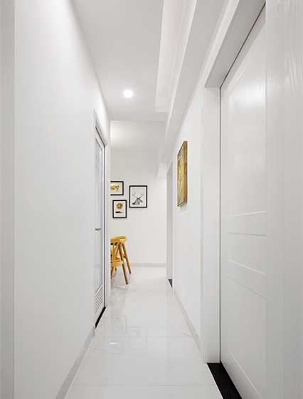 90平米简约三居室走廊效果图