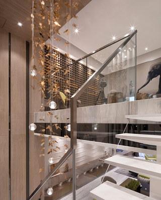 144平样板房装修楼梯装修设计