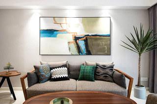 140平简约公寓装修客厅效果图