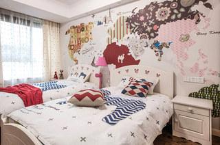 140平公寓装修儿童房壁纸图片