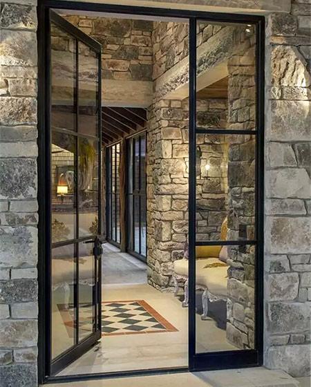 玄关玻璃门设计效果图