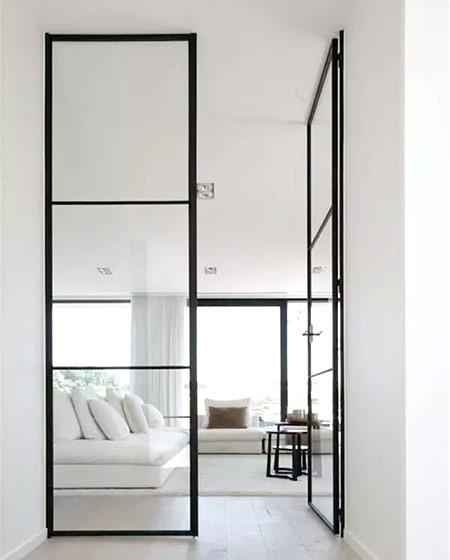 玻璃铁框门装修设计图片
