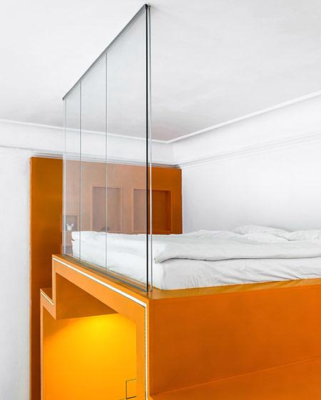 小户型loft公寓卧室隔断装修