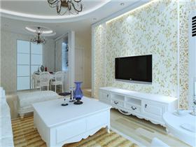 家庭装修客厅背景墙效果图 巧思的设计让家大放异彩