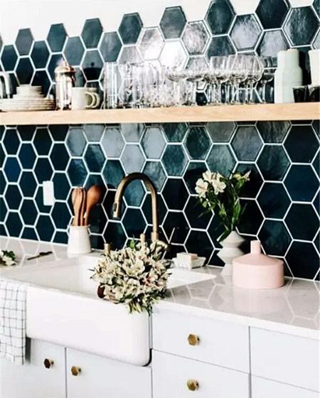 小户型厨房装修马赛克瓷砖设计