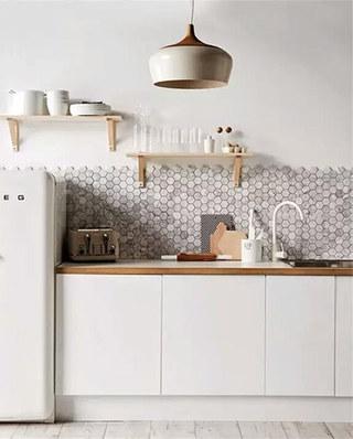 北欧风格开放式厨房装修瓷砖