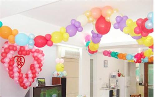 结婚房间气球布置图片 如何用气球布置结婚房间