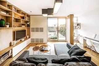 现代风复式单身公寓效果图   单身狗的归宿
