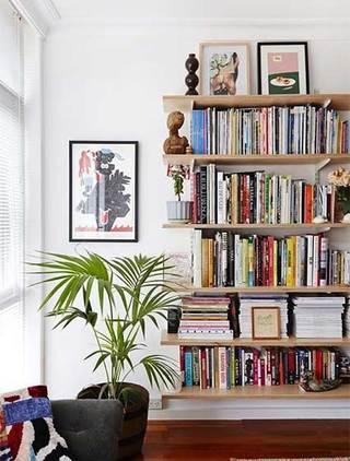 墙面书架装修装饰图片