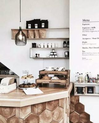 国外咖啡厅吧台设计图