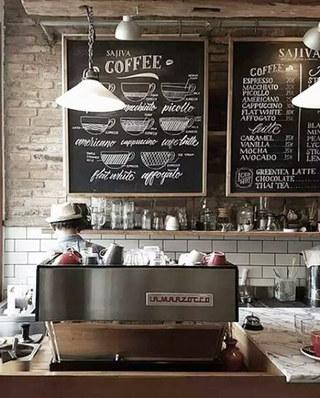 复古咖啡厅吧台效果图