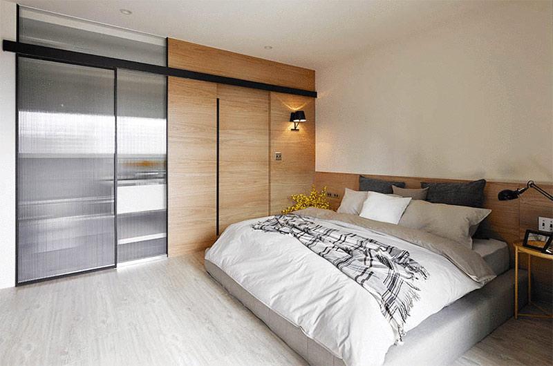 132平简约公寓装修主卧室设计