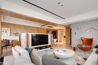 简约风格公寓电视背景墙装修