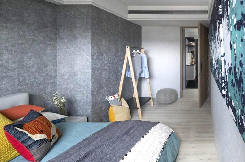 简约风格公寓卧室床品图片