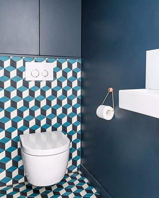 100平简约风格公寓卫生间瓷砖贴图