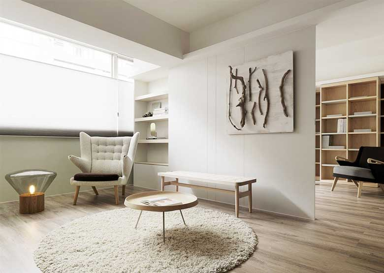 95平米极简两居室图片大全