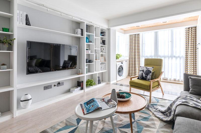 140平北欧风格三居电视柜设计