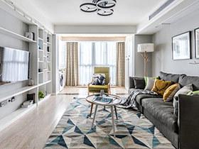 140平北欧风格三居室装修 随时注入新鲜感