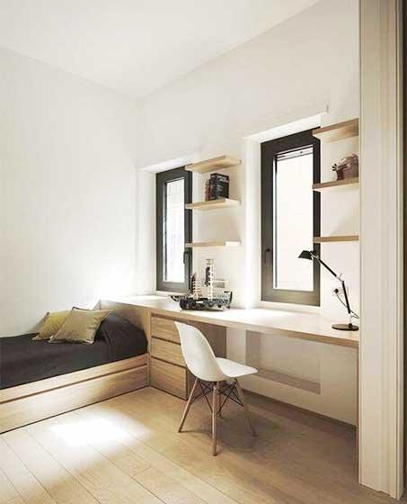 卧室整体书桌设计效果图