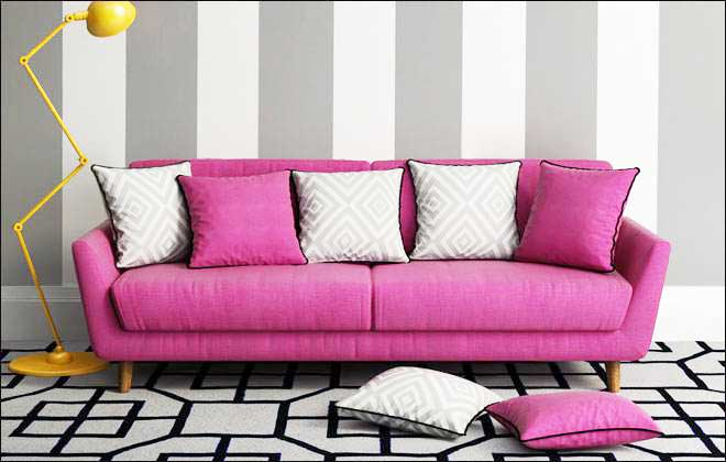 粉色沙发设计平面图