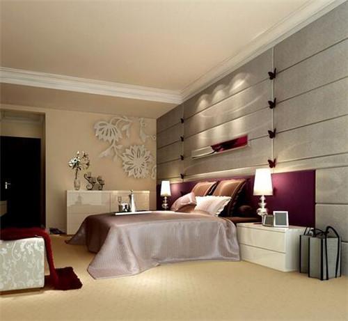 卧室墙漆颜色效果图4----浅棕色
