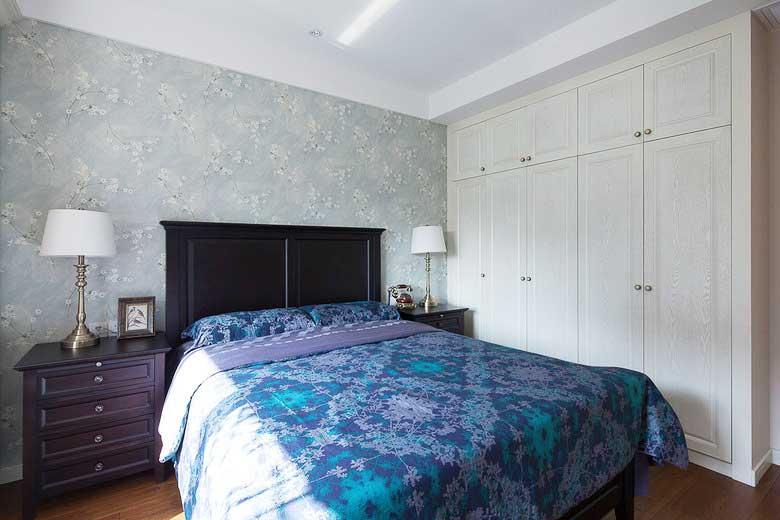 乡村风格两居室卧室构造图