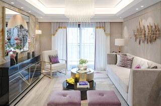 140平样板间装修客厅设计