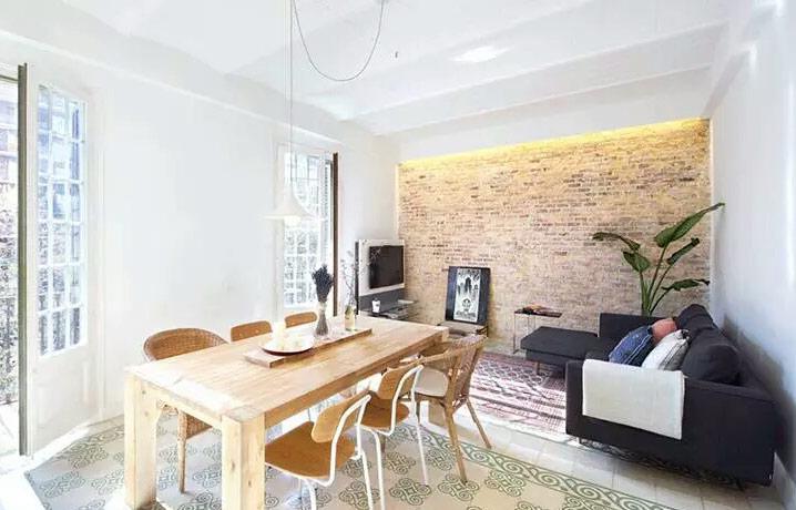 75平小户型二居客厅餐厅设计