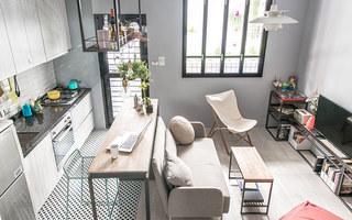 30平单身公寓装修客厅效果图