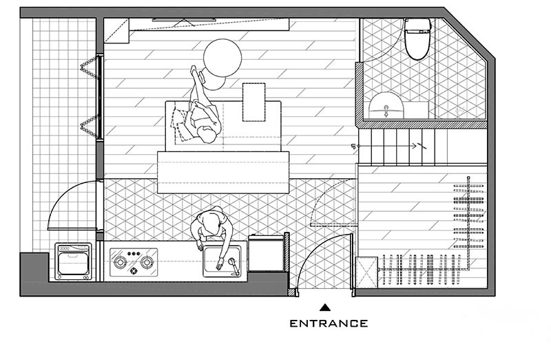 30平单身公寓装修平面布置图