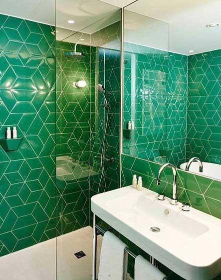 绿色系卫生间装修装饰效果图