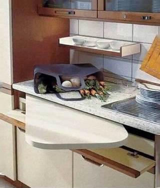 厨房收纳布置摆放图片