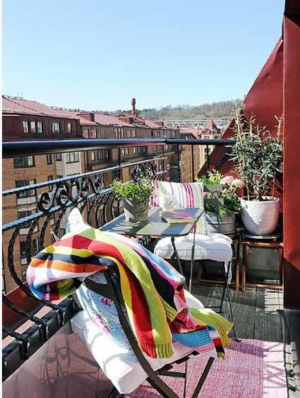 休闲阳台设计参考图片