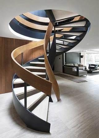 客厅旋转楼梯图片大全